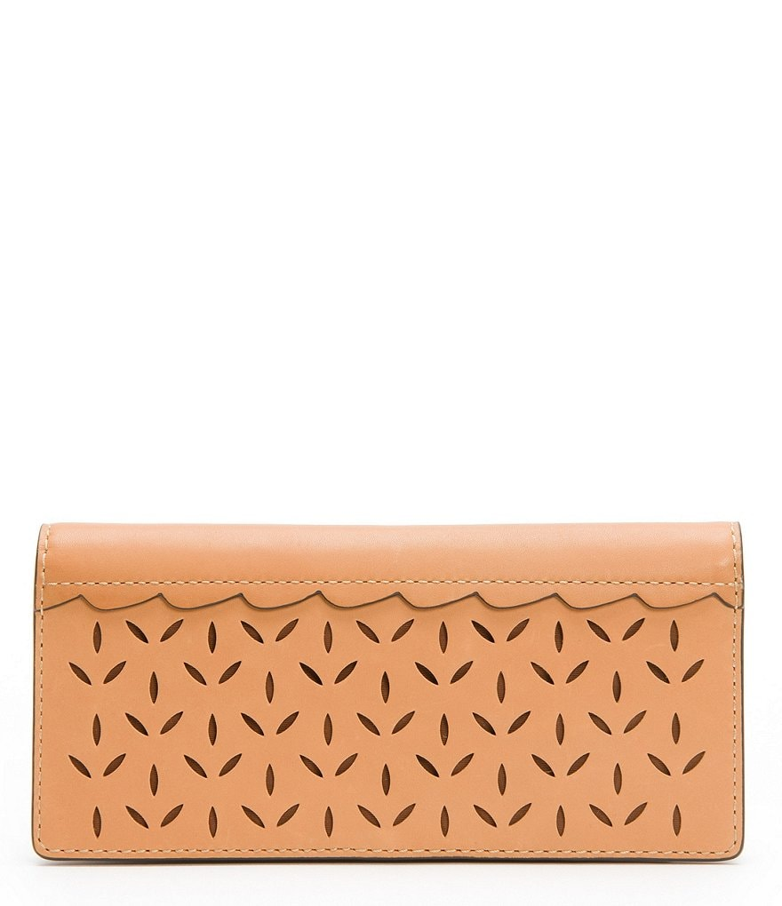 Frye Ilana Perforated Slim Wallet