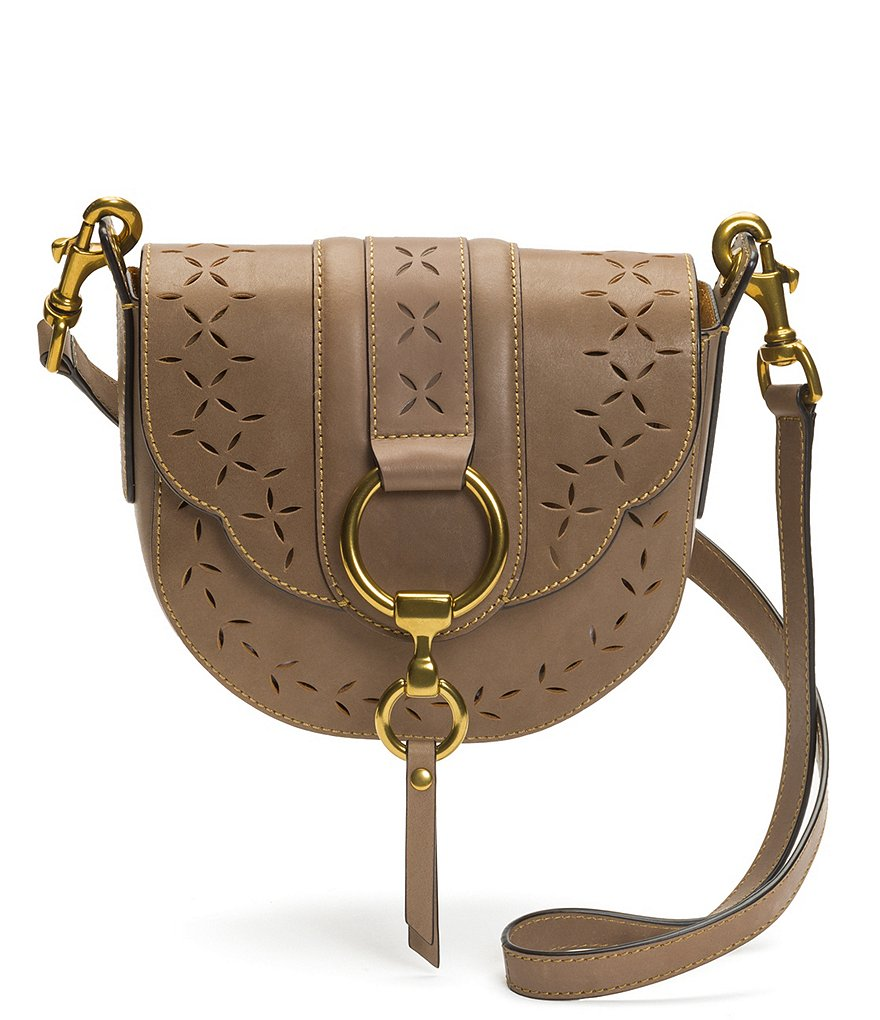 Frye Ilana Perforated Small Saddle Bag