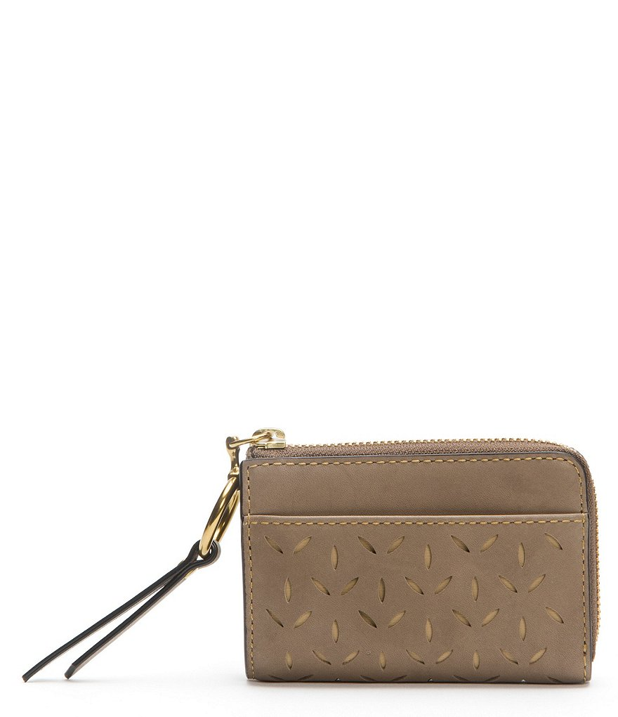 Frye Ilana Perforated Small Zip Wallet