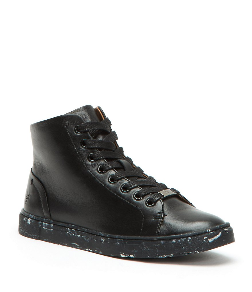 Frye Ivy High Top Leather Sneakers