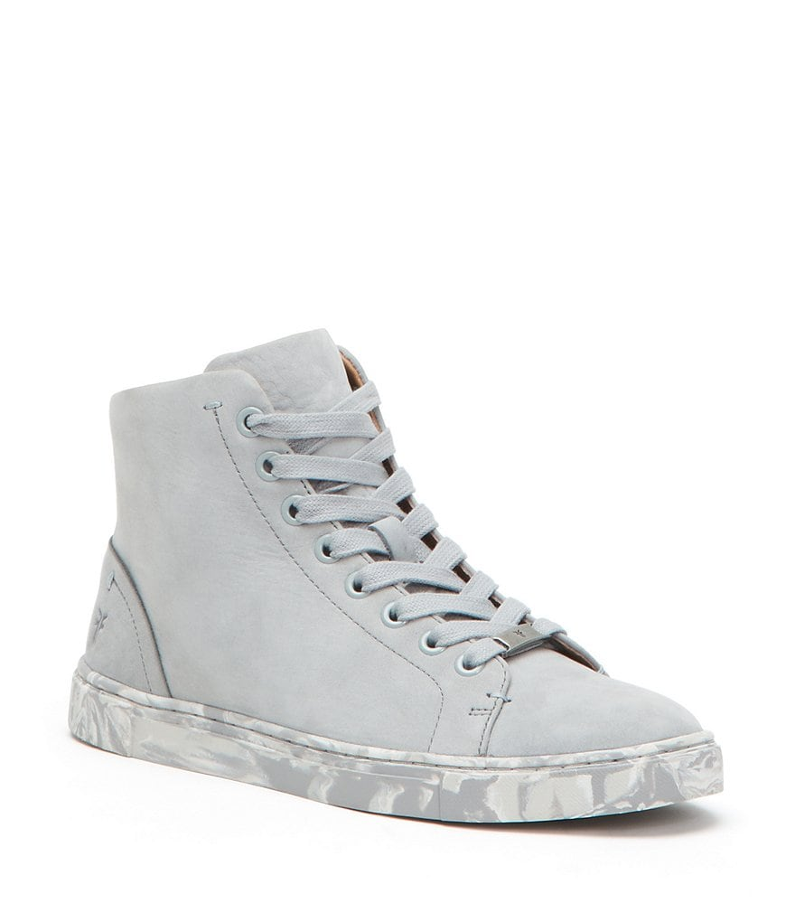 Frye Ivy High Top Nubuck Leather Sneakers