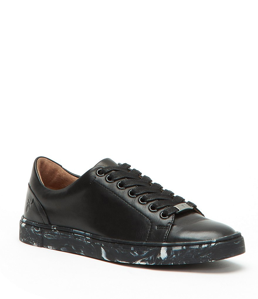 Frye Ivy Low Lace Leather Sneakers