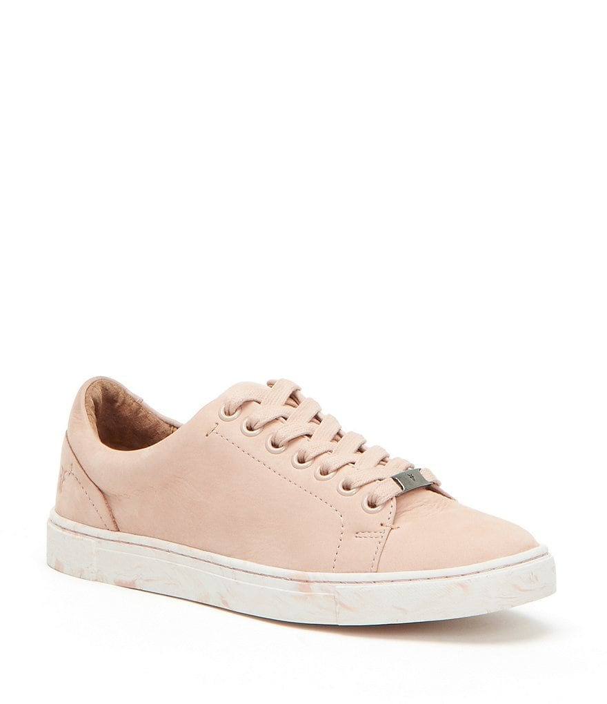 Frye Ivy Nubuck Leather Low Lace Sneakers