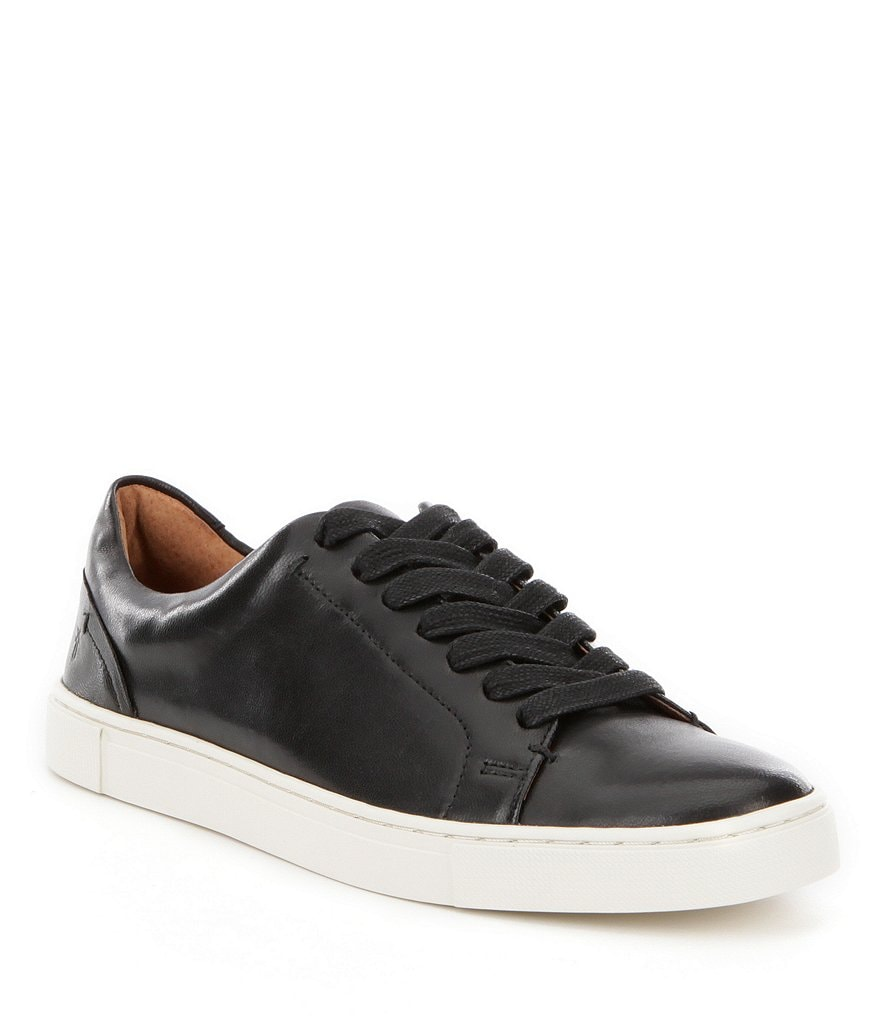 Frye Ivy Low Leather Lace-Up Sneakers
