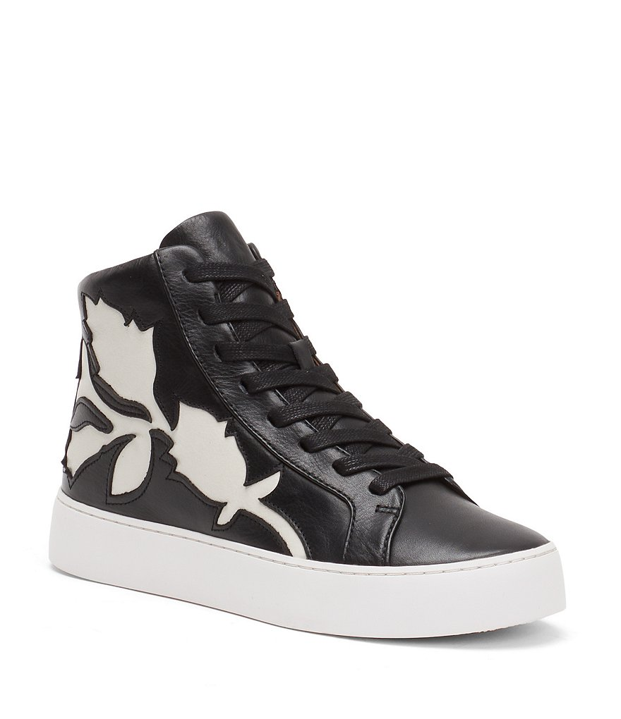 Frye Lena Floral High Top Sneakers