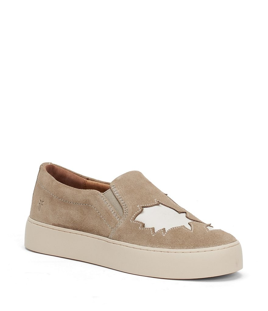 Frye Lena Floral Suede Slip-On Sneakers