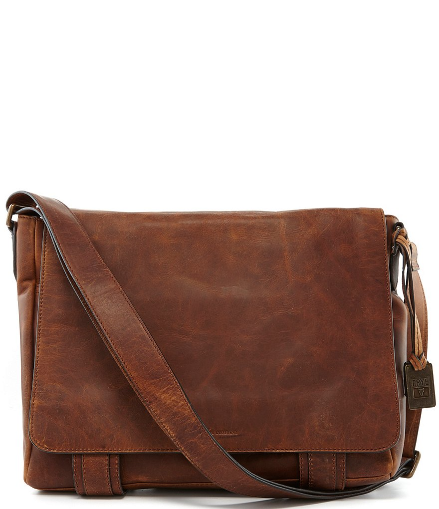 Frye Logan Leather Messenger Bag