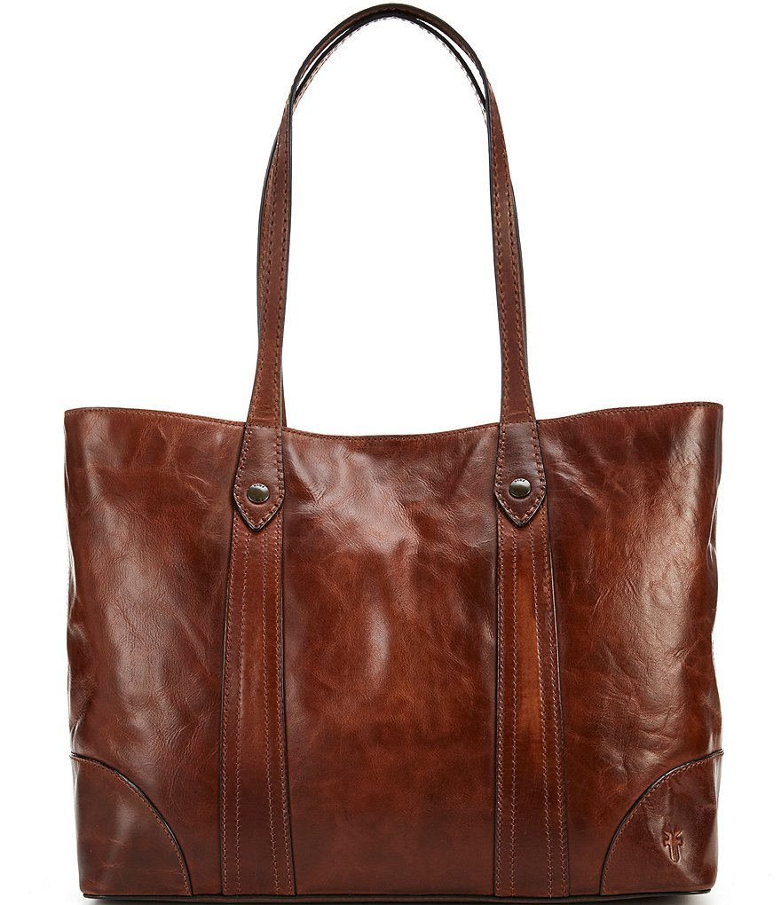 Frye Melissa Tote (Cognac Antique Pull Up) Tote Handbags SfOWn0wi