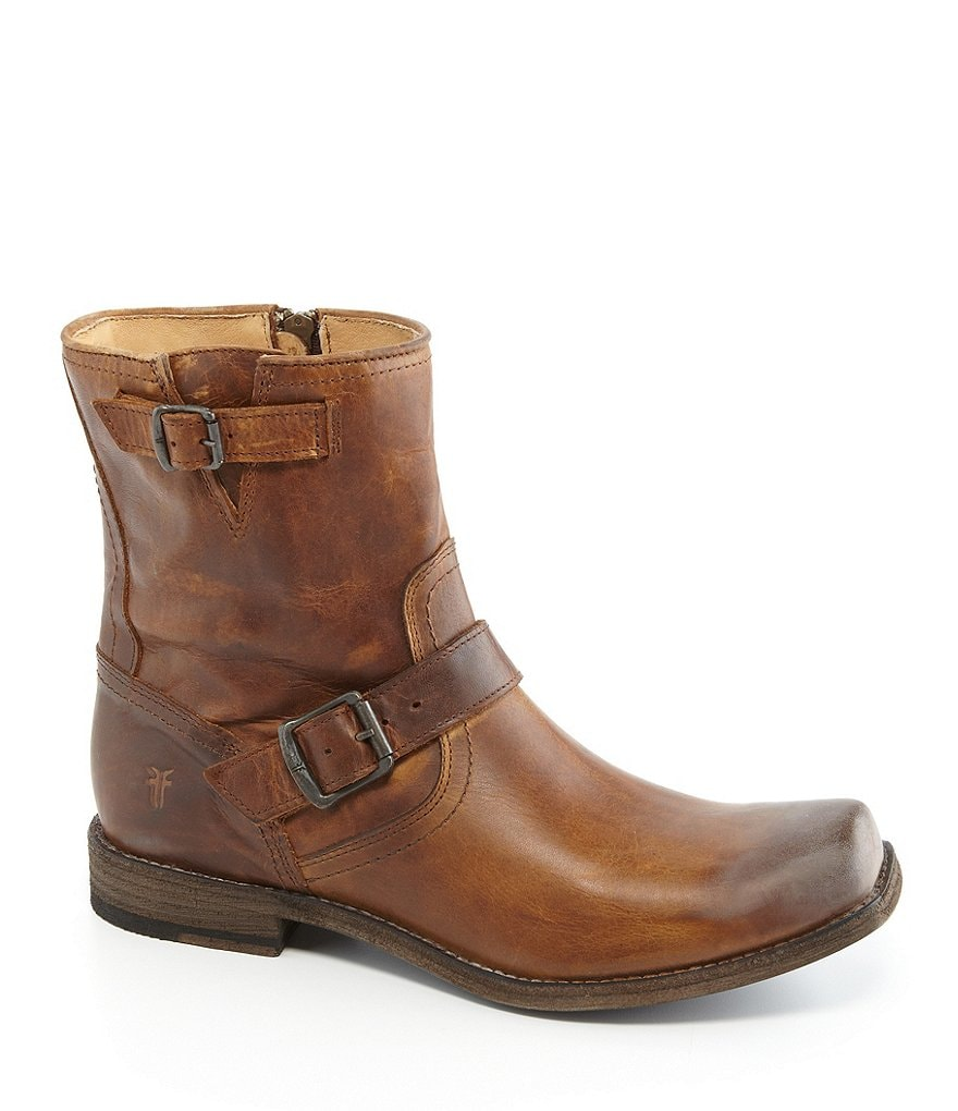 Frye Men's Smith Engineer Leather Buckle Boots
