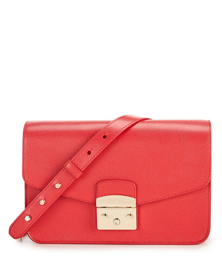 Furla Metro S Studded Chain-Strap Shoulder Bag