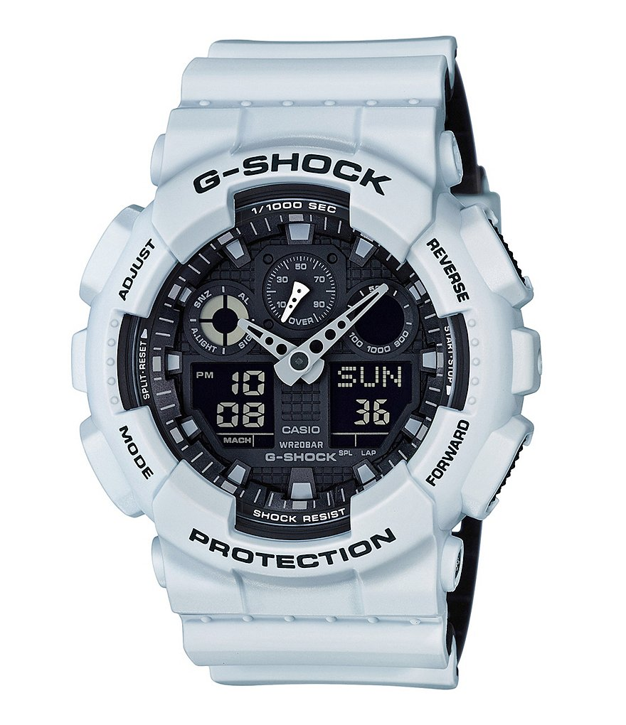 G-Shock White Ana-Digi Resin-Strap Watch