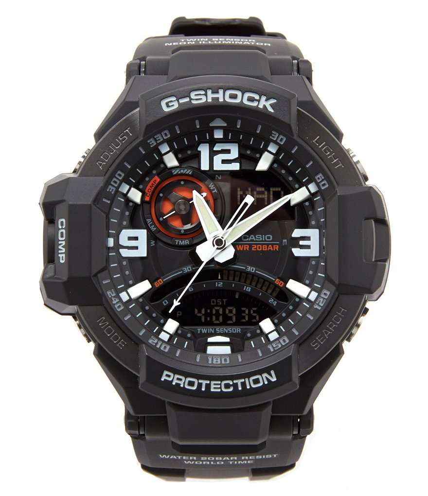 G-Shock Aviation Series Black Gravity Master Watch