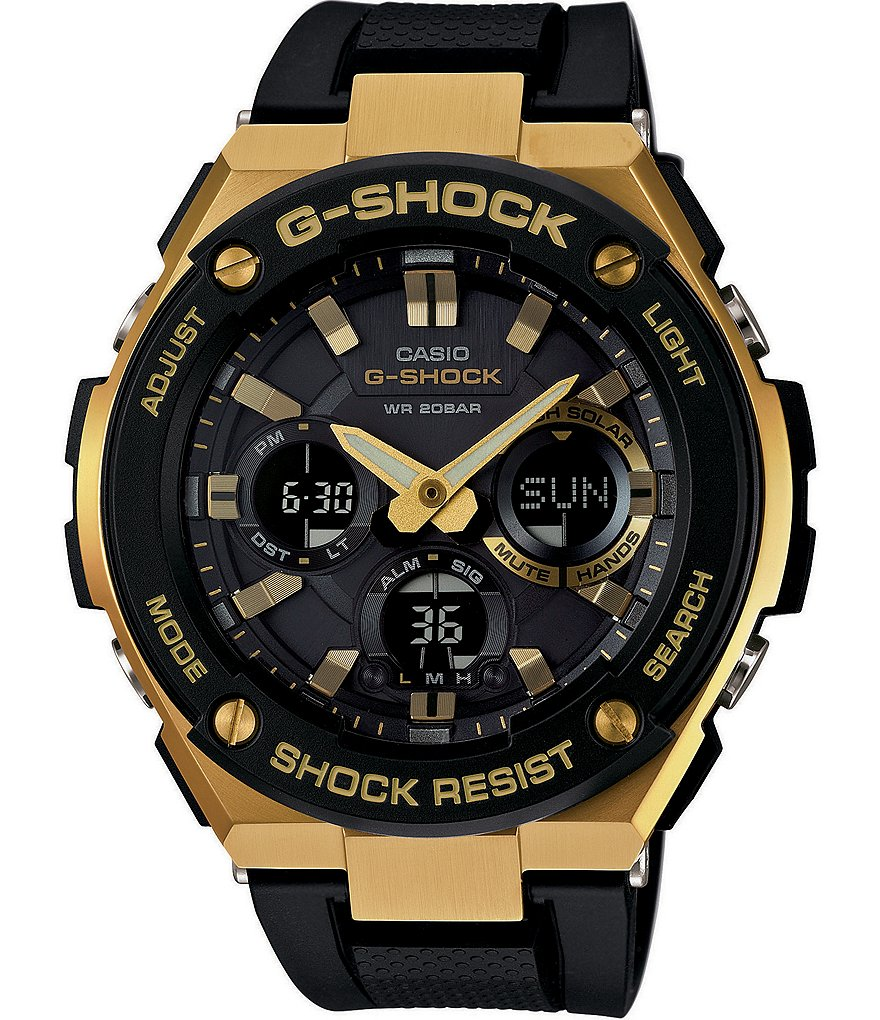 G-Shock G-Steel Solar-Powered Ana-Digi World Time Watch
