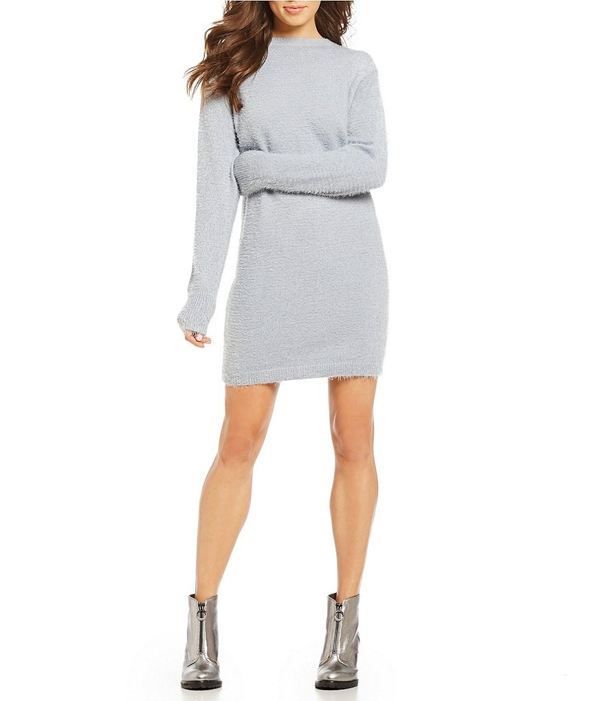 GB Eyelash Sweater Dress