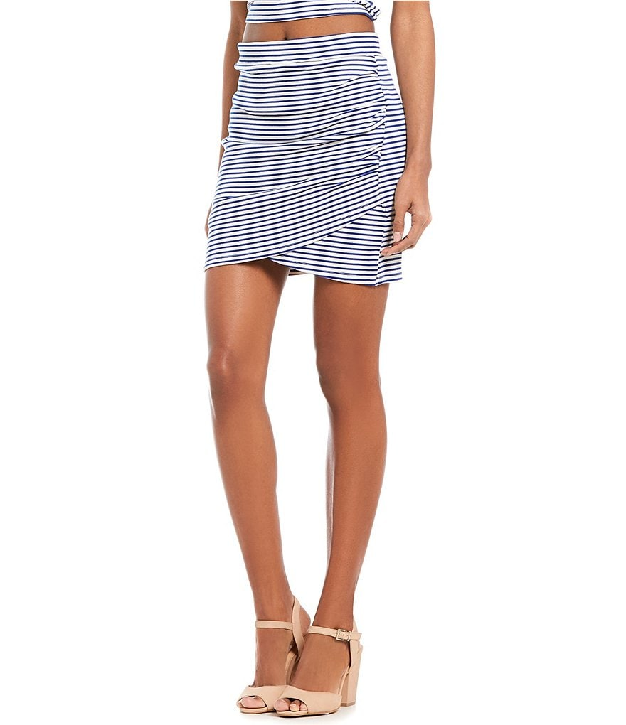 GB Fan Fav Stripe Wrap Skirt
