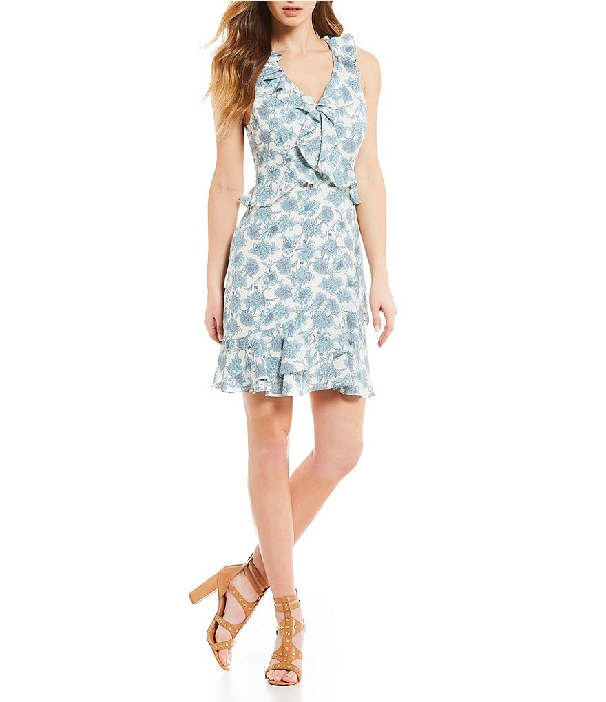 GB Floral Ruffle Dress