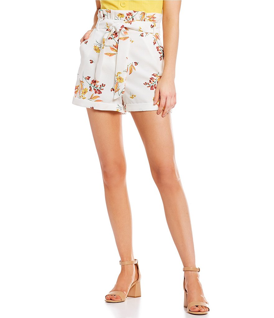 GB Coordinating Floral Tie-Waist Shorts