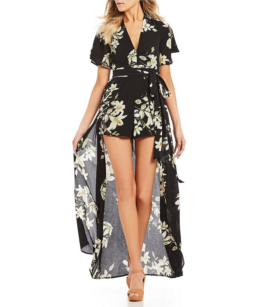 GB Floral Walkthru Maxi Romper