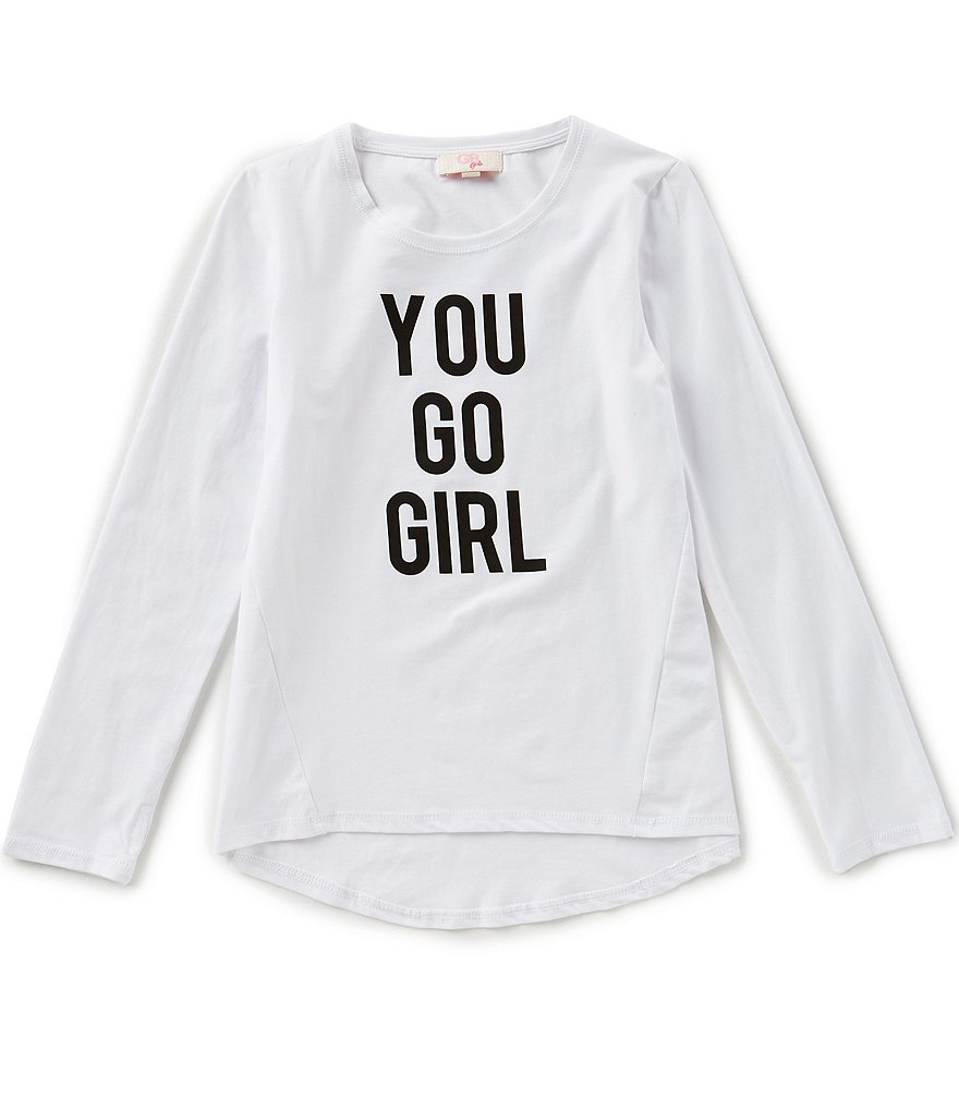 GB Girls Active Big Girls 7-16 You Go Girl Tee