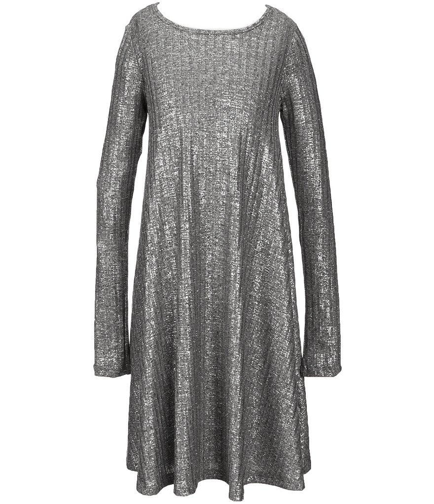 GB Girls Big Girls 7-16 Fan Fave Metallic Swing Dress