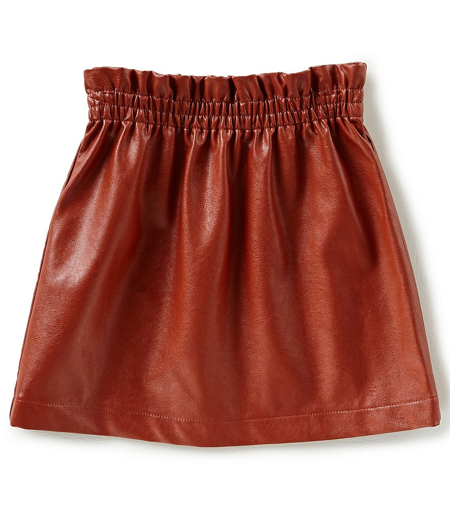 GB Girls Big Girls 7-16 Faux-Leather Skirt