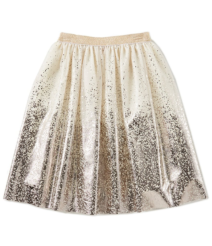 GB Girls Big Girls 7-16 Metallic Foiled Mesh Skirt
