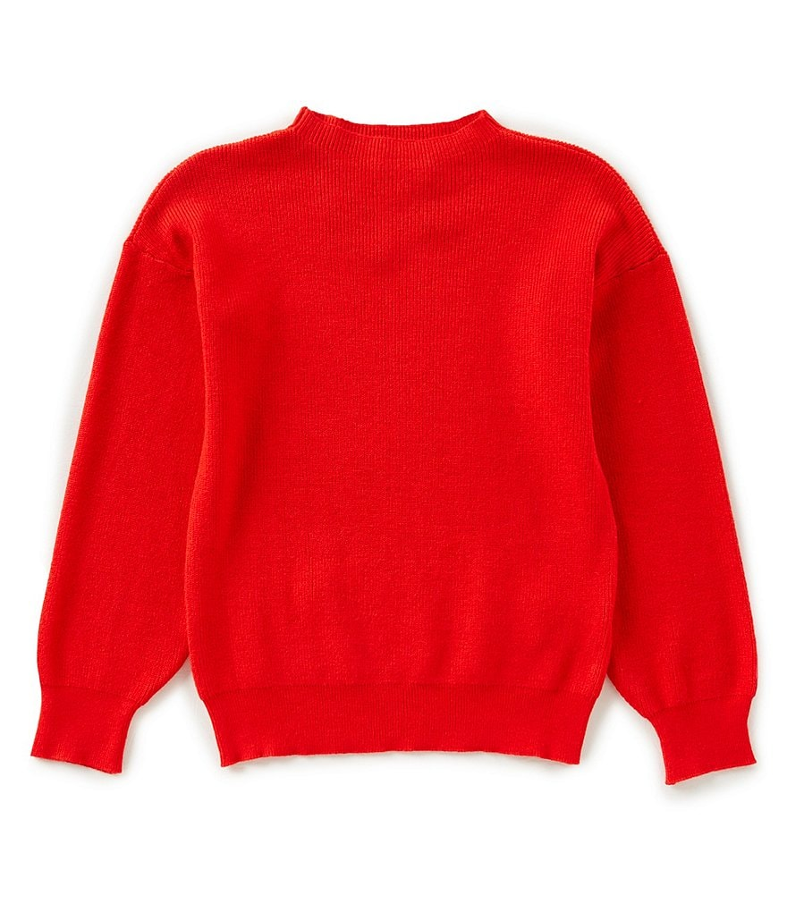 GB Girls Big Girls 7-16 Mock-Neck Solid Sweater