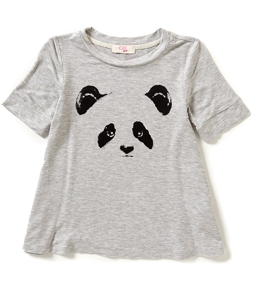 GB Girls Big Girls 7-16 Panda Graphic Top