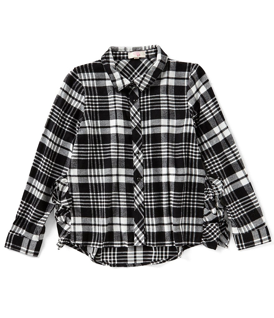 GB Girls Big Girls 7-16 Plaid Button-Down Top