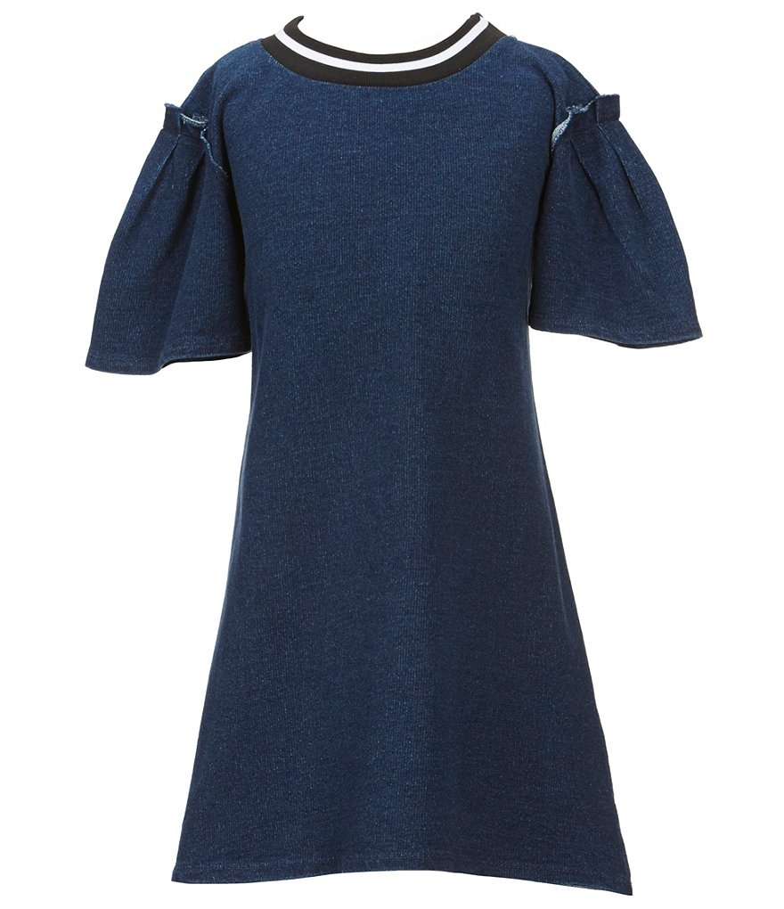 GB Girls Big Girls 7-16 Ruffle Short-Sleeve Dress