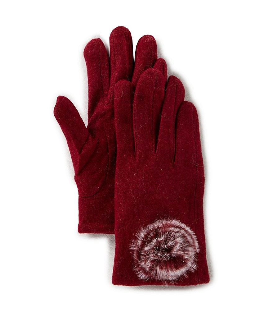 GB Girls Fur-Pom Gloves