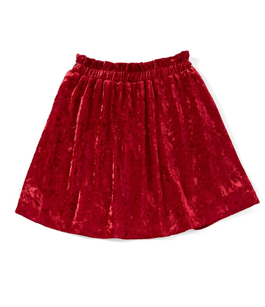GB Girls Little Girls 4-6X Crushed Velvet Skirt
