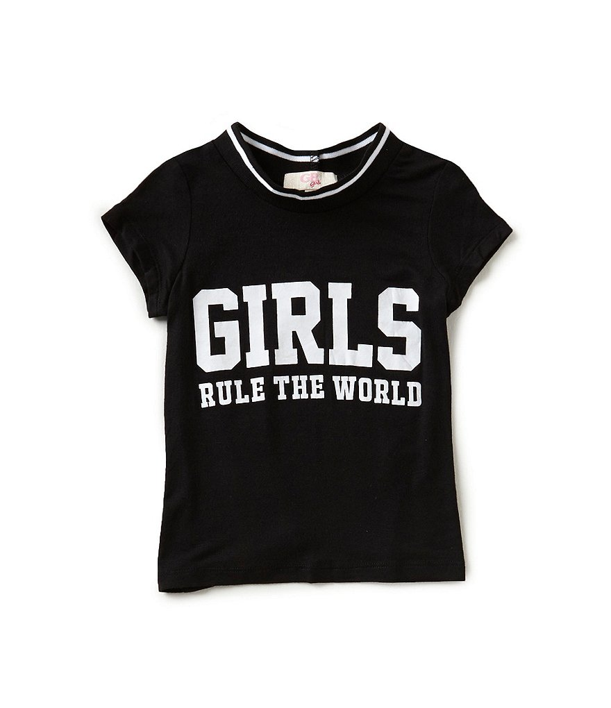 GB Girls Little Girls 4-6X Girls Rule Tee