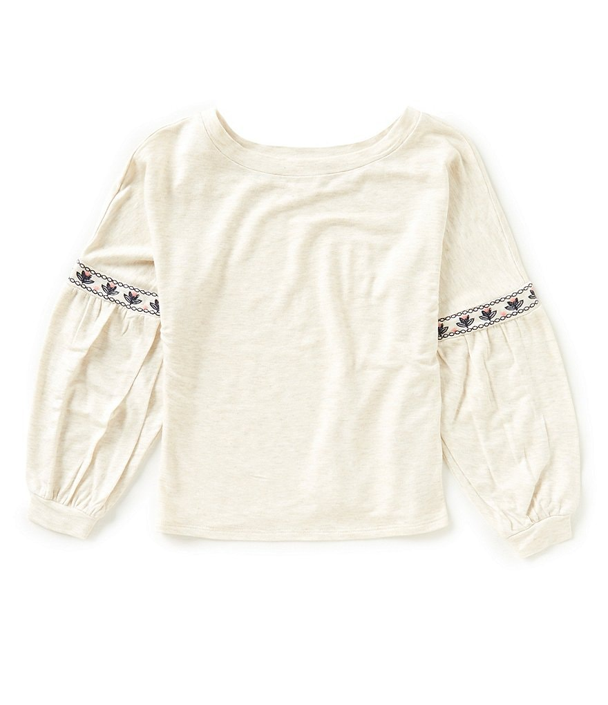 GB Girls Little Girls 4-6X Long-Sleeve Peasant Top