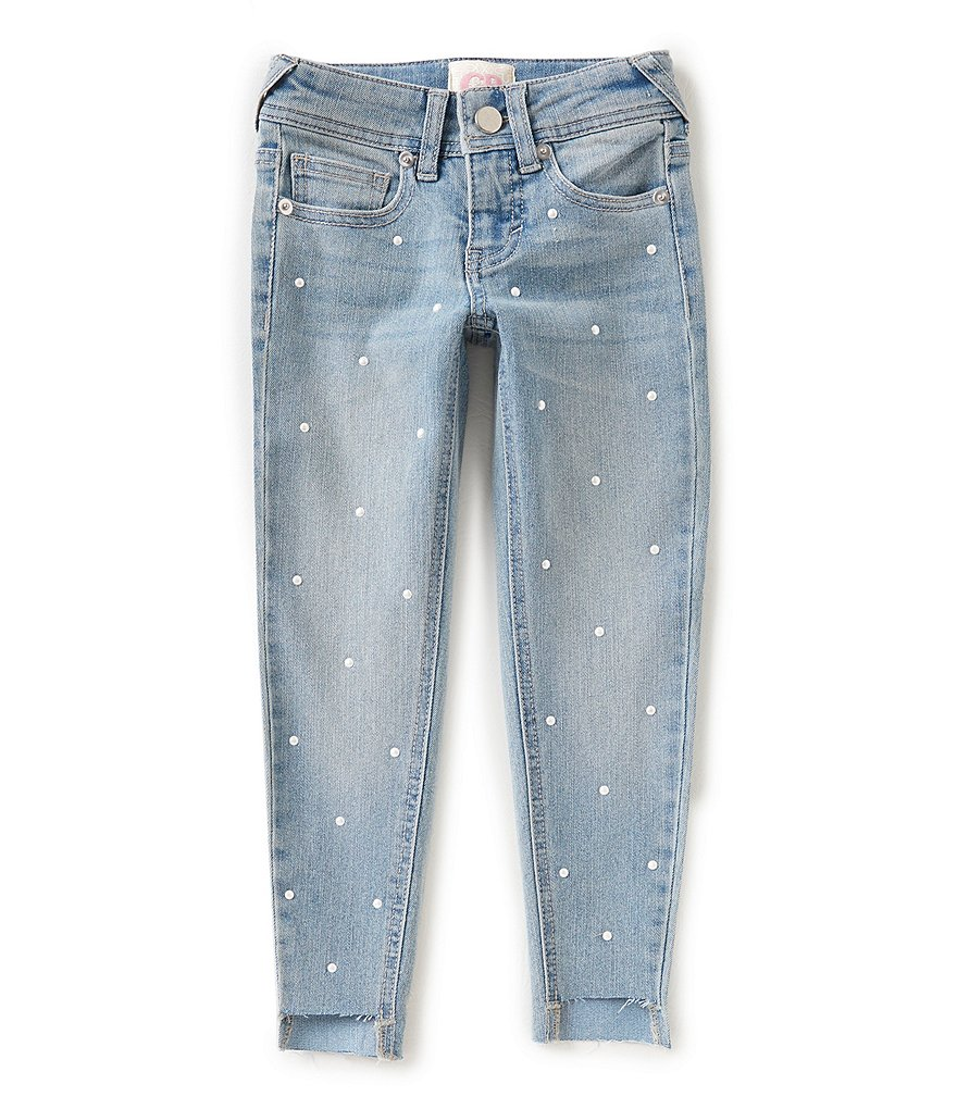 GB Girls Little Girls 4-6X Pearl Step-Hem Jeans