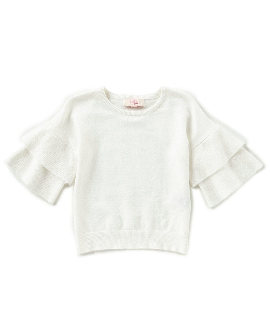 GB Girls Little Girls 4-6X Tiered-Sleeve Sweater