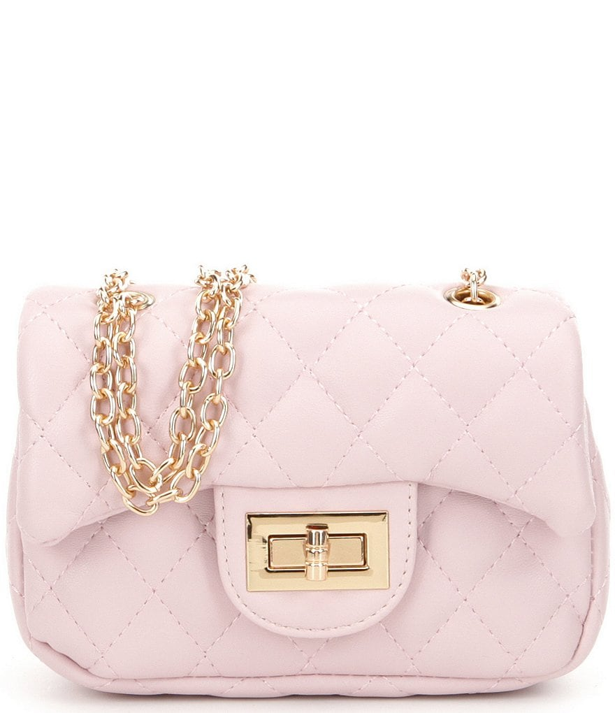 Gb S Quilted Chain Handbag