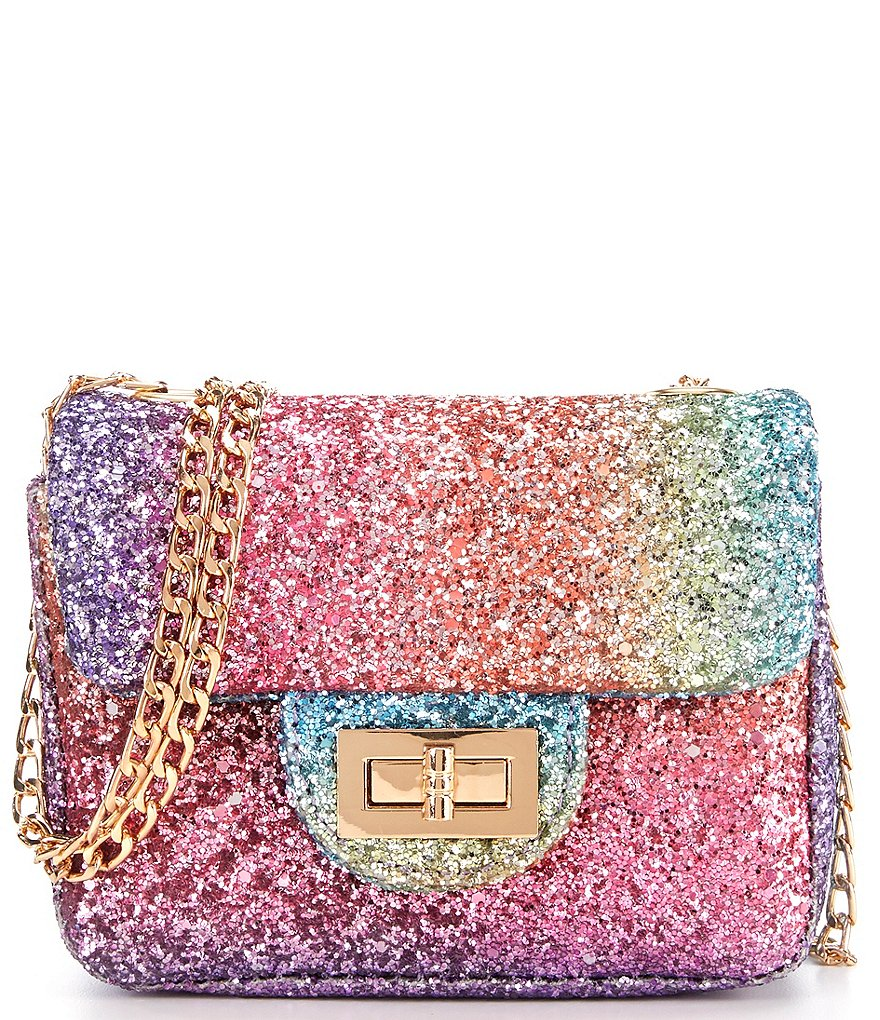 Gb S Rainbow Glitter Crossbody Handbag
