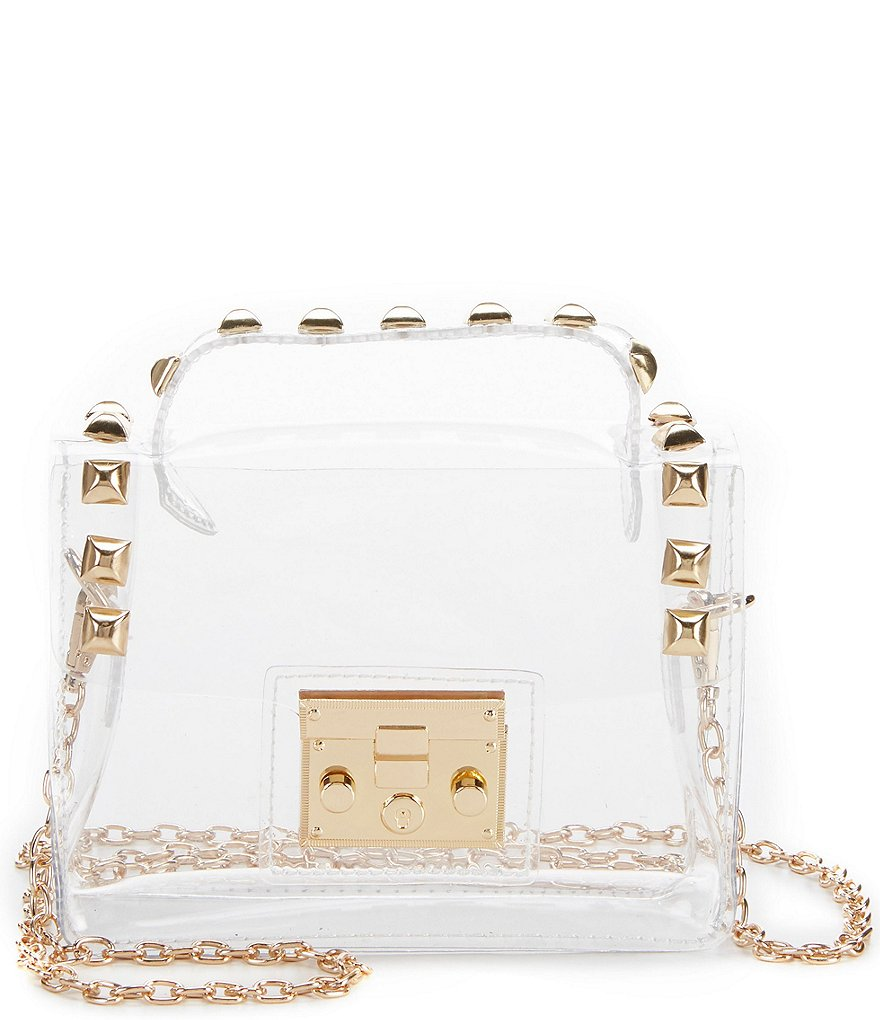 GB Girls Studded Clear Crossbody Handbag