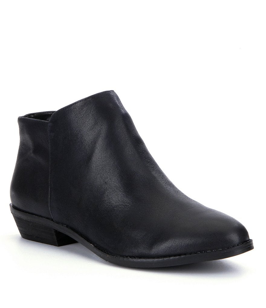 GB Pearce-Ing Leather Block Heel Booties