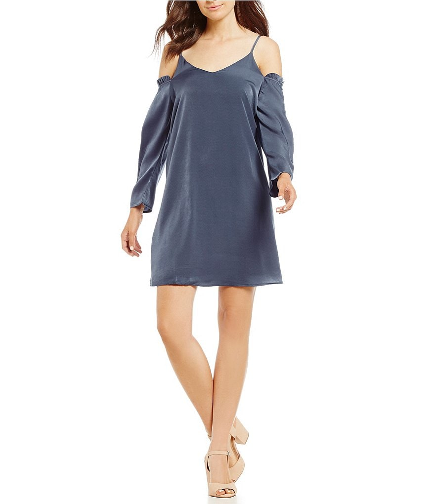 GB Satin Cold Shoulder Dress