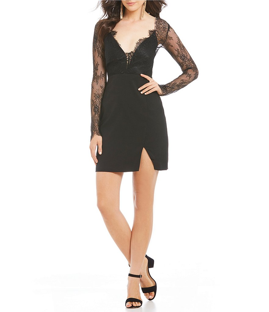GB Social Long Sleeve Lace Dress