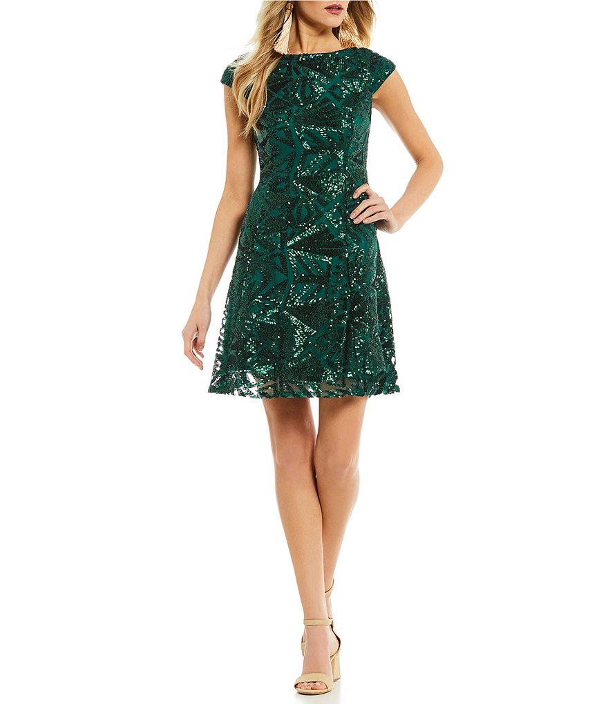 GB Social Sequin Swing Dress