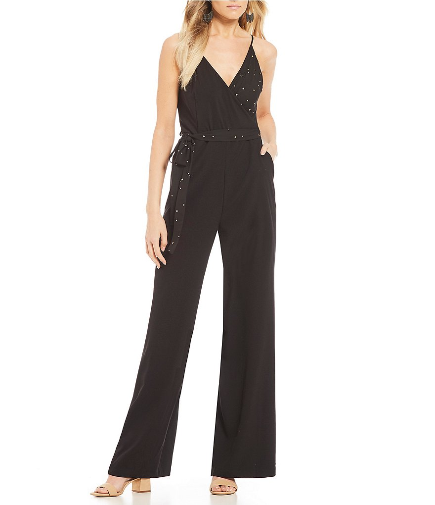 GB Star Print Wrap Jumpsuit