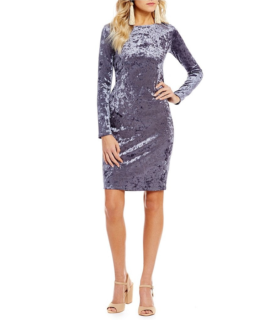 GB Velvet Bodycon Dress