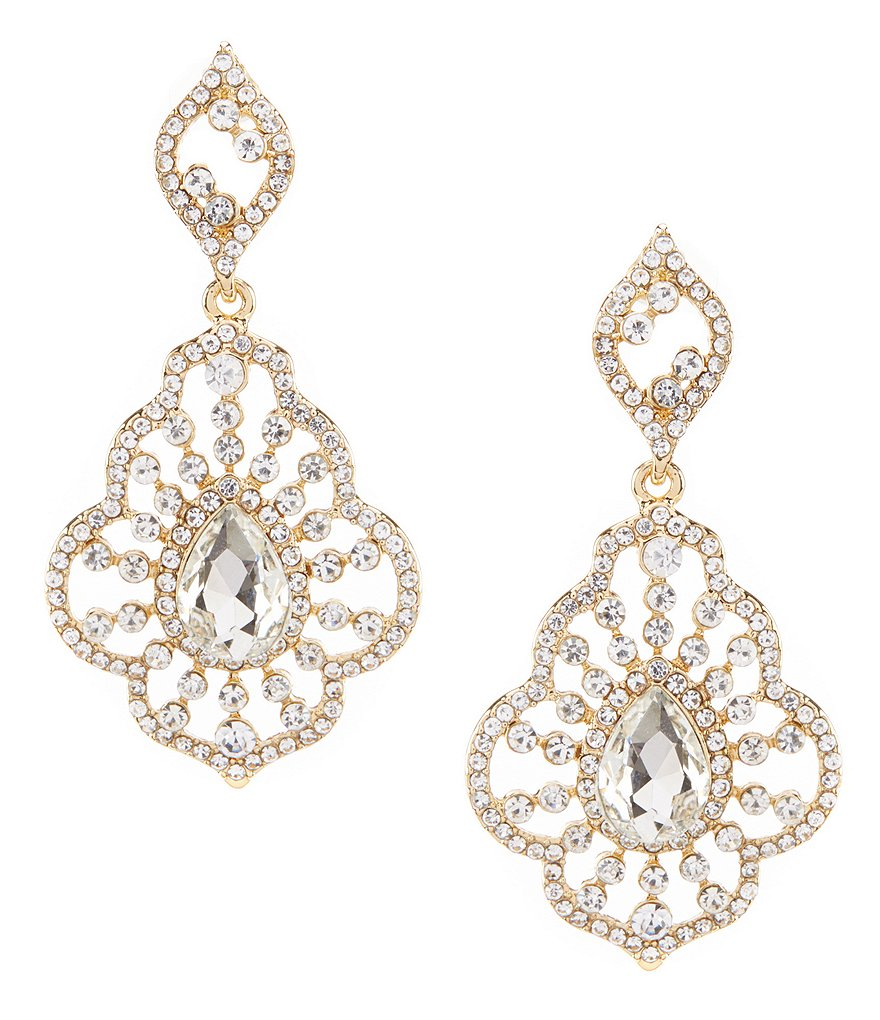 Gemma Layne Openwork Teardrop Earrings