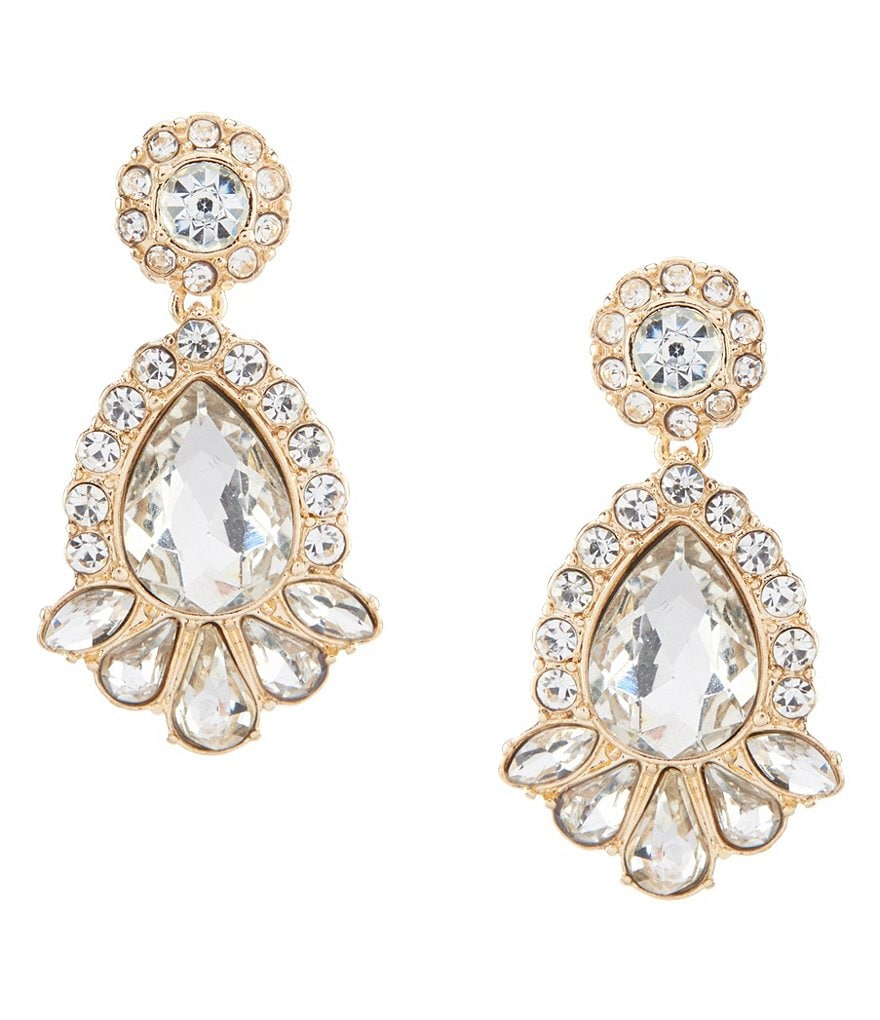 Gemma Layne Pavé Pear Drop earrings