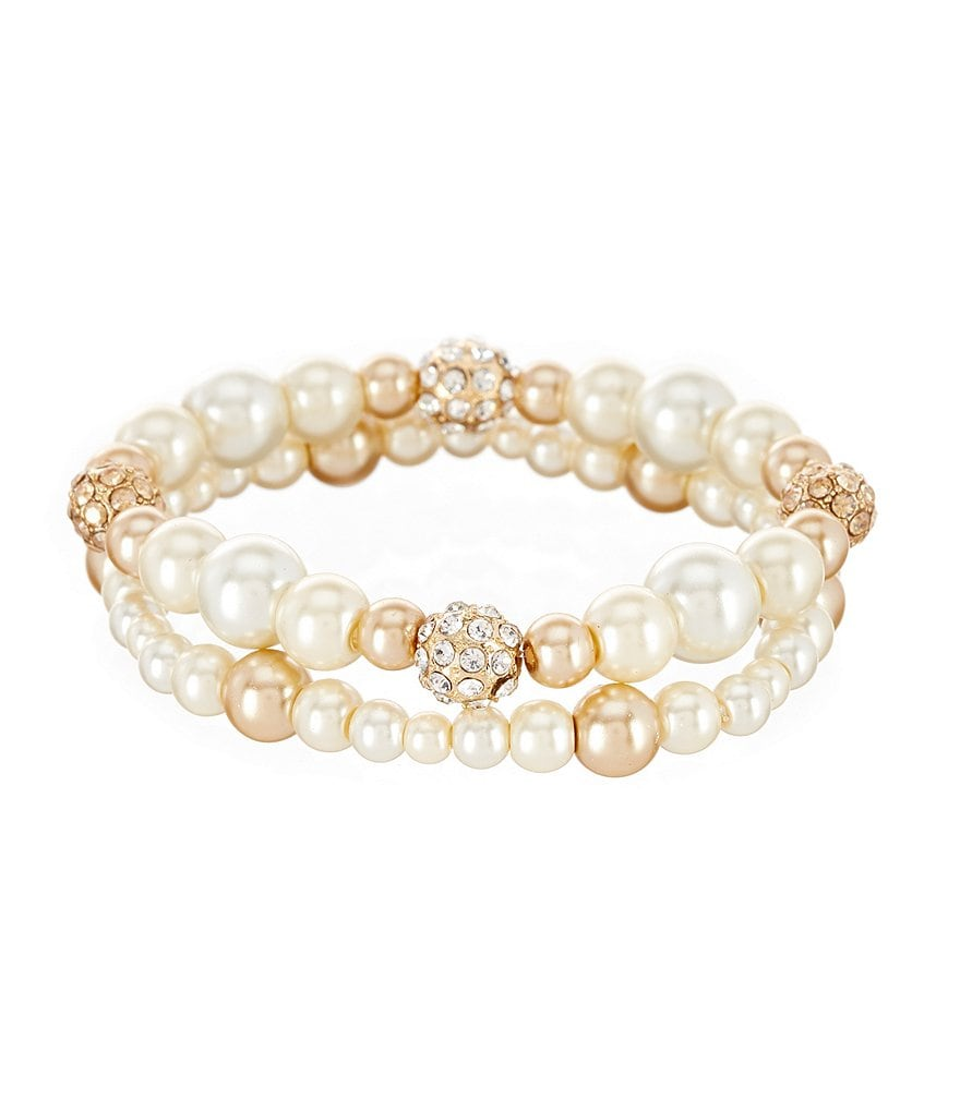 Gemma Layne Pearl Mix Stretch Bracelet