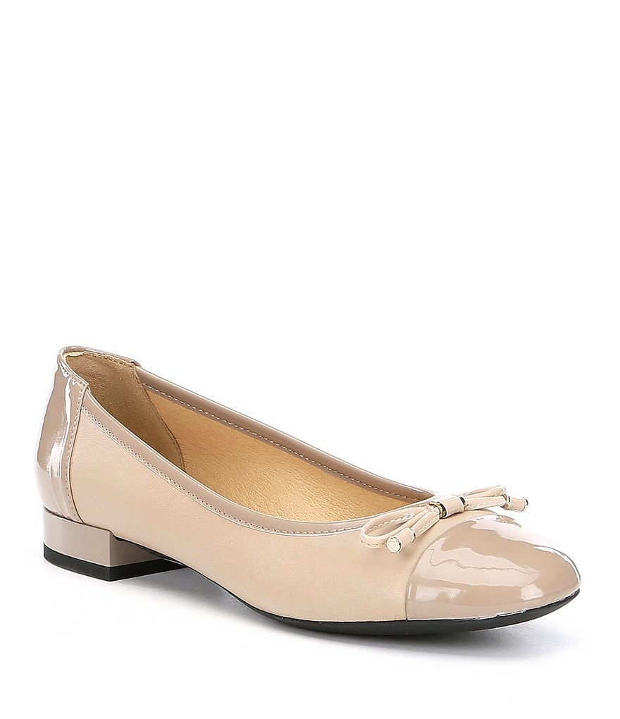 Geox Wistrey Patent Leather Cap Toe Flats