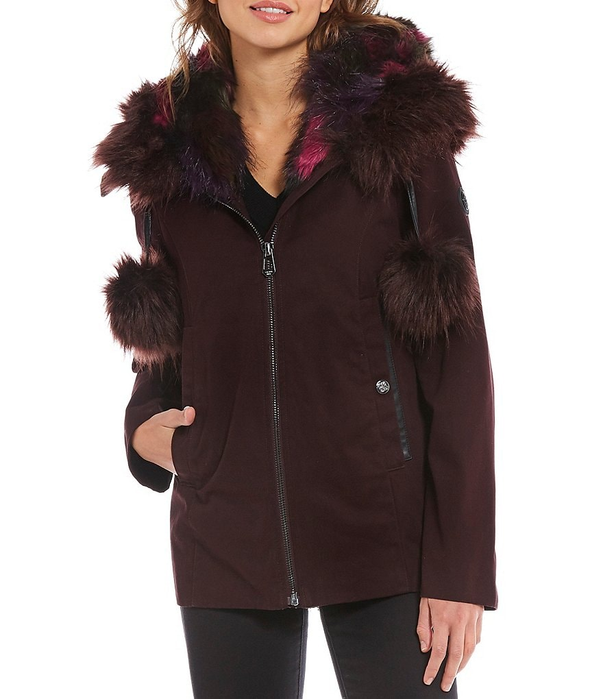 Gianni Bini Anorak with Faux Fur Hood